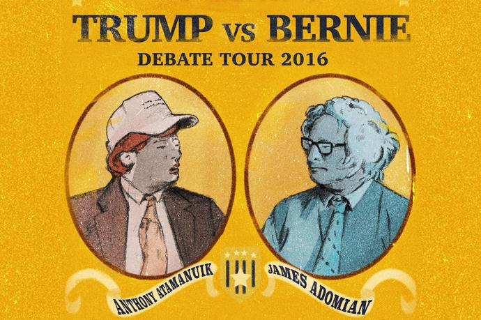 Trump vs. Bernie naar Boom Chicago